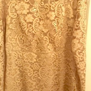 Nanette Lepore gold lace fitted cocktail dress